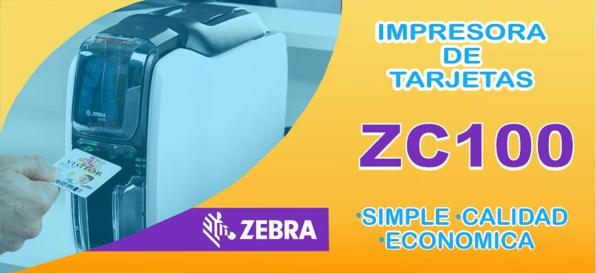 Impresora de tarjetas Zebra ZC100